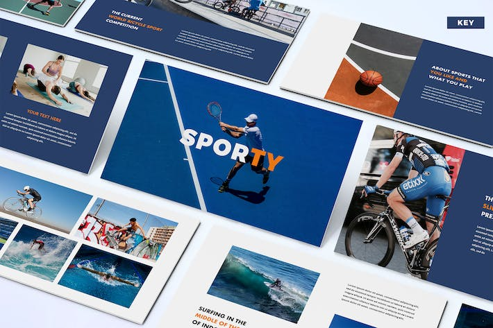 Thumbnail for Sporty - Keynote Template