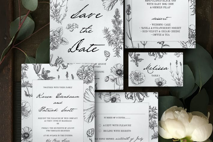 Thumbnail for Botanical Wedding Invitation