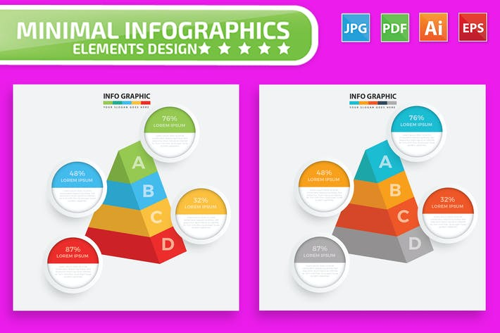 Thumbnail for Pyramid Infographic Design