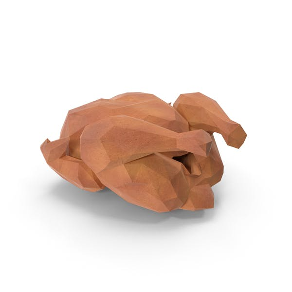 Low Poly Roasted Turkey