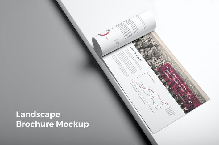 Thumbnail for Landscape Brochure Mockup