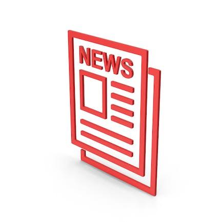 Symbol Newspaper Red