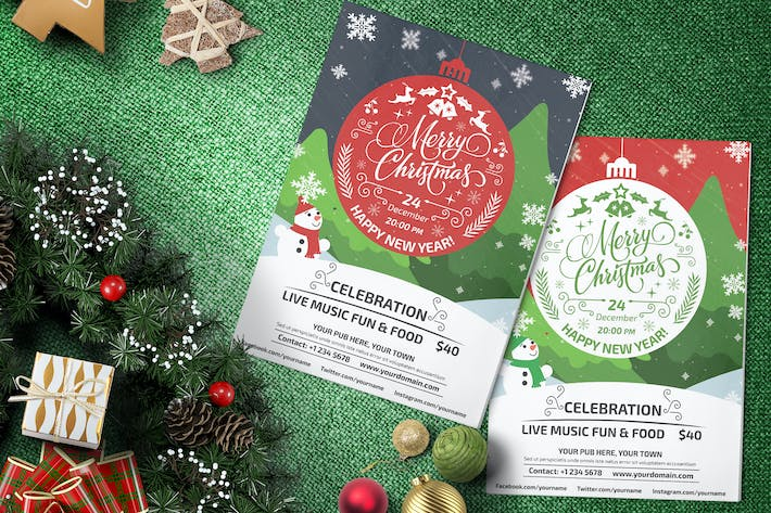 Thumbnail for Christmas Party - Flyer Template 02