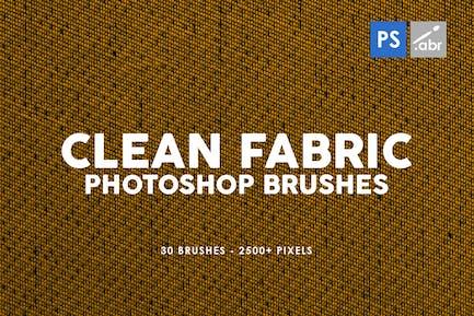 30 Pinceles para sellos de tela limpia Photoshop