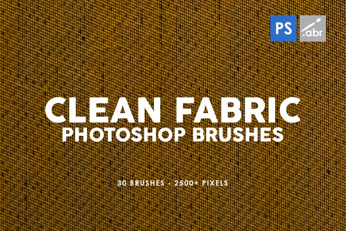 Thumbnail for 30 Clean Fabric Photoshop Stamp Brushes