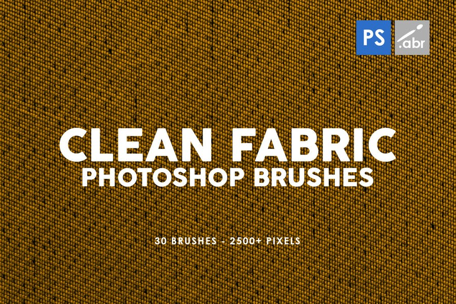 30 Clean Fabric Photoshop Stamp Brushes