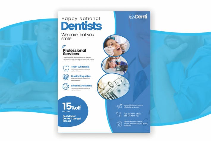 Thumbnail for National Dentist's Day is a Simply Modern Flyer