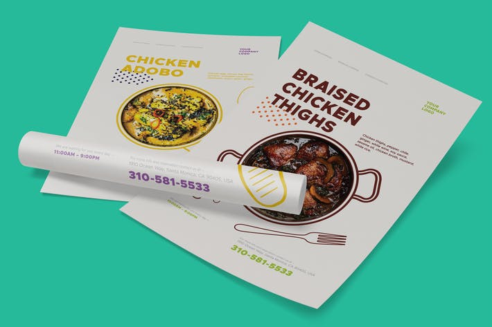 Thumbnail for Dishes Promo Poster Templates
