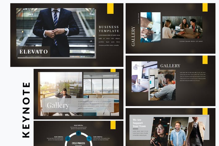 Thumbnail for Elevato Dark - Business Keynote Template