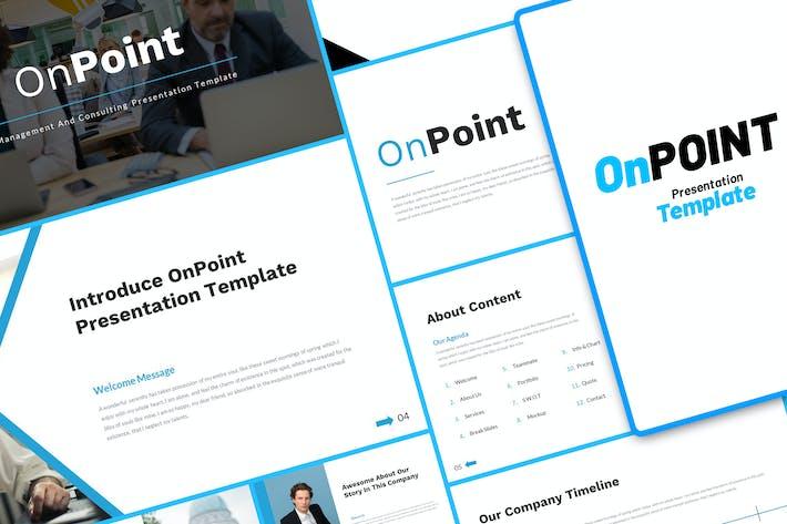 Thumbnail for Консалтинг по управлению OnPoint GoogleSlide Шаблон
