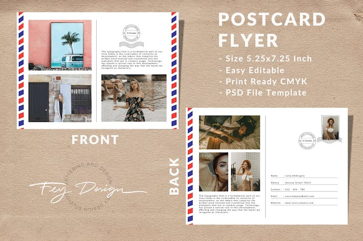 Thumbnail for Vintage Postcard Template