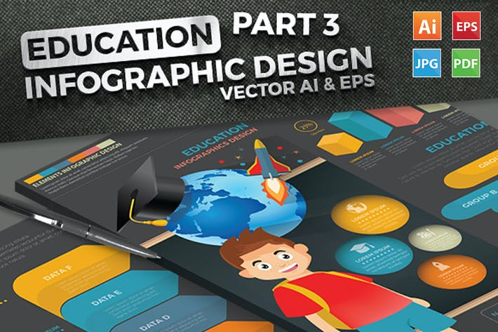 Thumbnail for Education Infographics Design Part 3