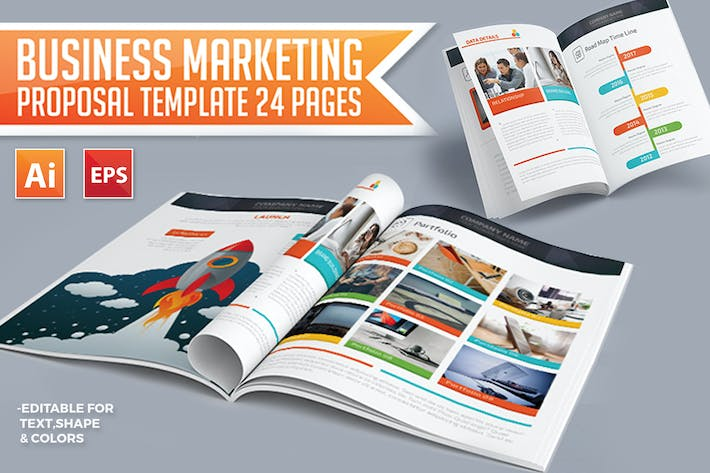 Thumbnail for Business Marketing Proposal Template 24 Pages