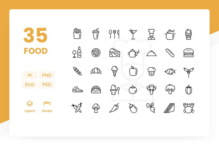 Cover Image For Food - Icons Pack