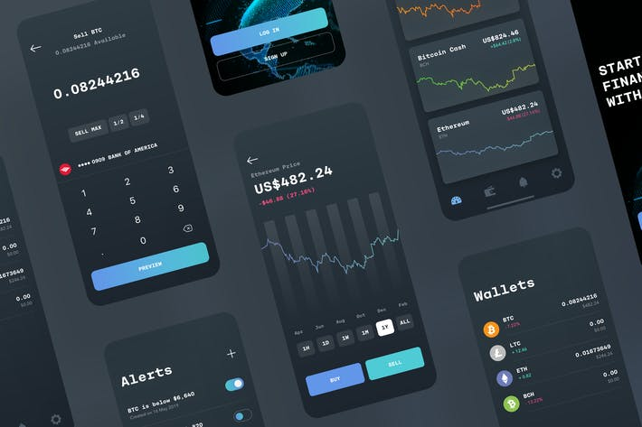 Thumbnail for Fintech UI Kit | Dashboard | Analytics | Trading