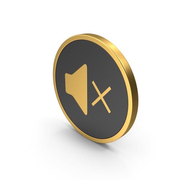 Золотой значок Звук X