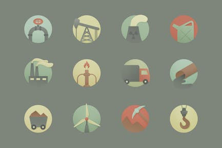 Industrielle Runde Icons