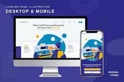 DIY - Landingpage Ilustration