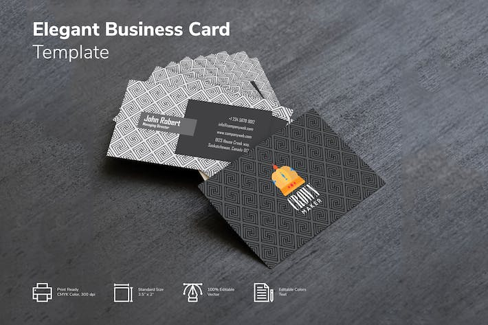 Cover Image For Modern Geometrical Pattern Business card