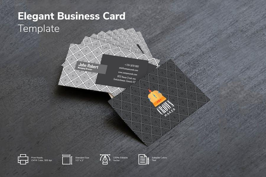 Modern Geometrical Pattern Business card