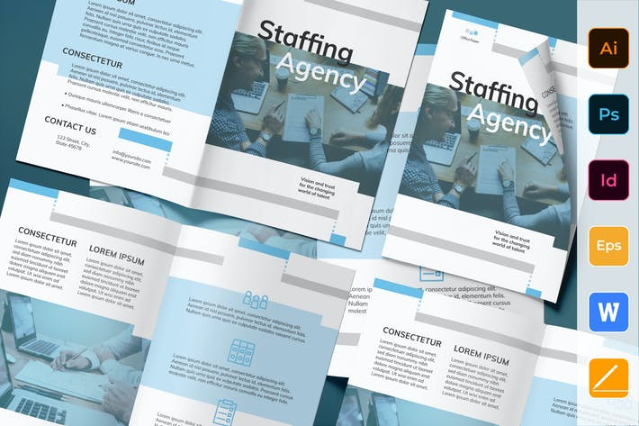 Thumbnail for Staffing Agency Brochure Bifold