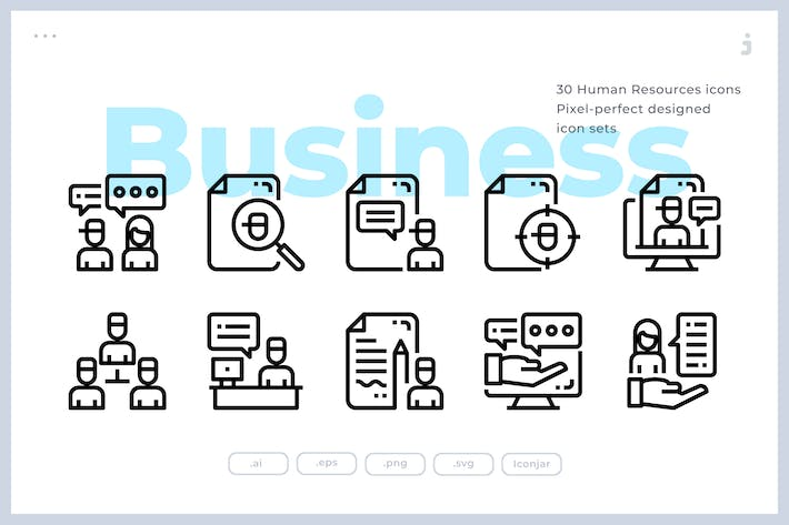 Thumbnail for 30 Human Resources Icons