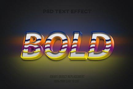 Modern bold text effect