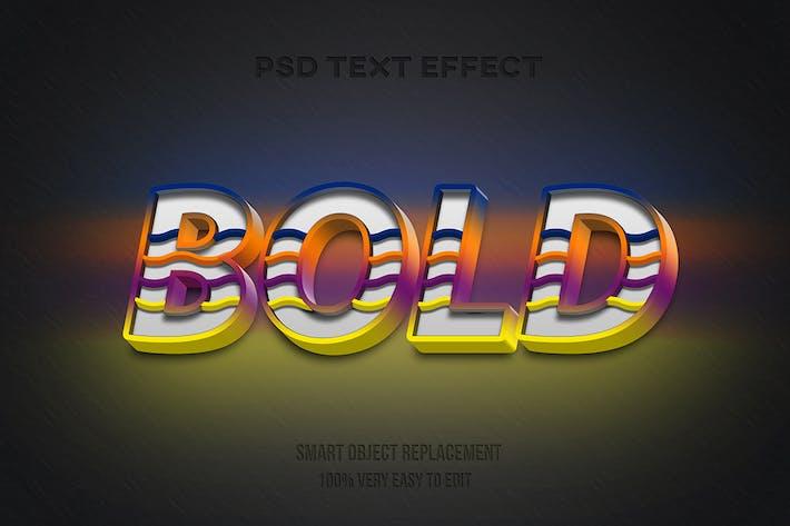 Современный полужирный текстовый эффект