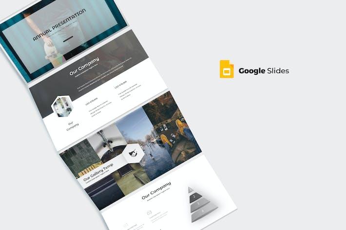 Thumbnail for Ежегодный - Шаблон слайдов Google