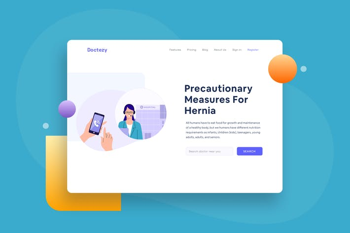 Thumbnail for Healthcare Patient call hospital Landing page