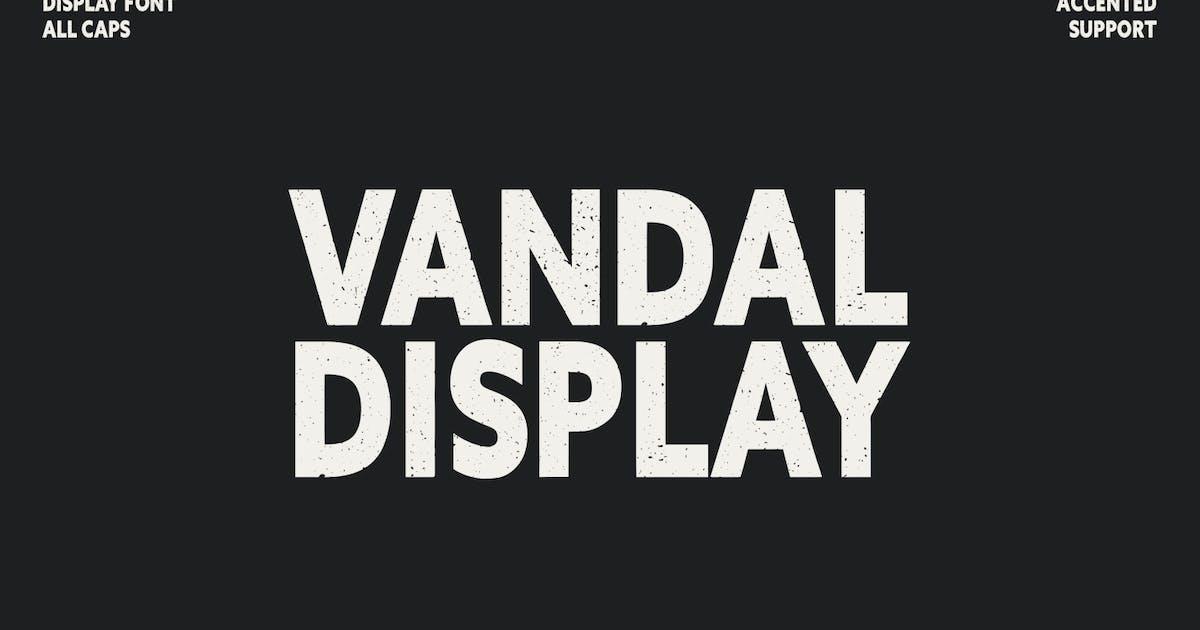 Download Vandal Display Font All Caps Sans Serif Typeface by maulanacreative