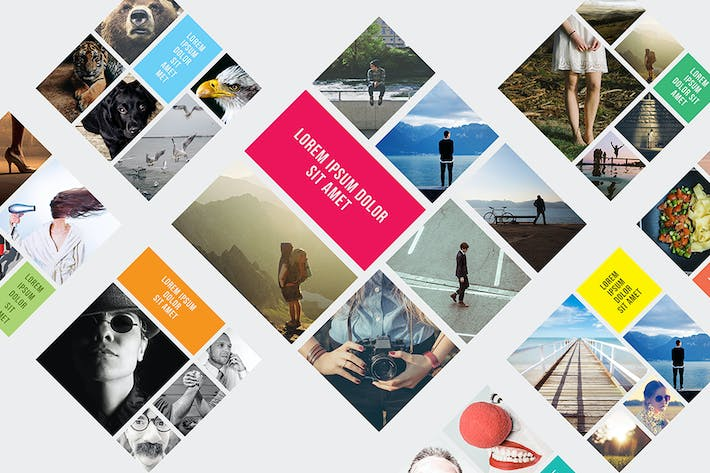 Thumbnail for Rhombic Photo Frame Templates
