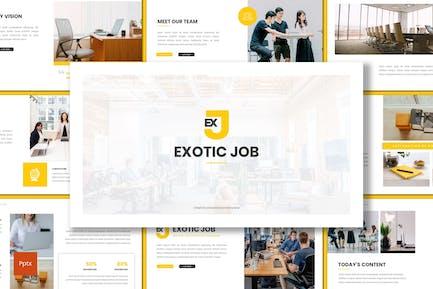 Exotische Arbeit - Business Powerpoint-Vorlage
