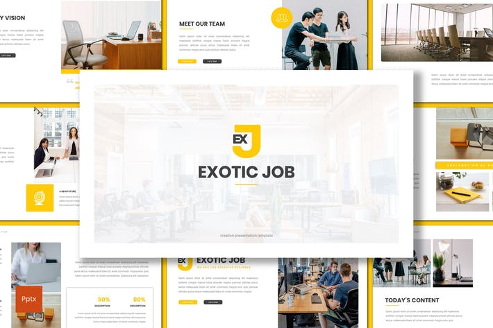 Thumbnail for Exotic Job - Business Powerpoint Template
