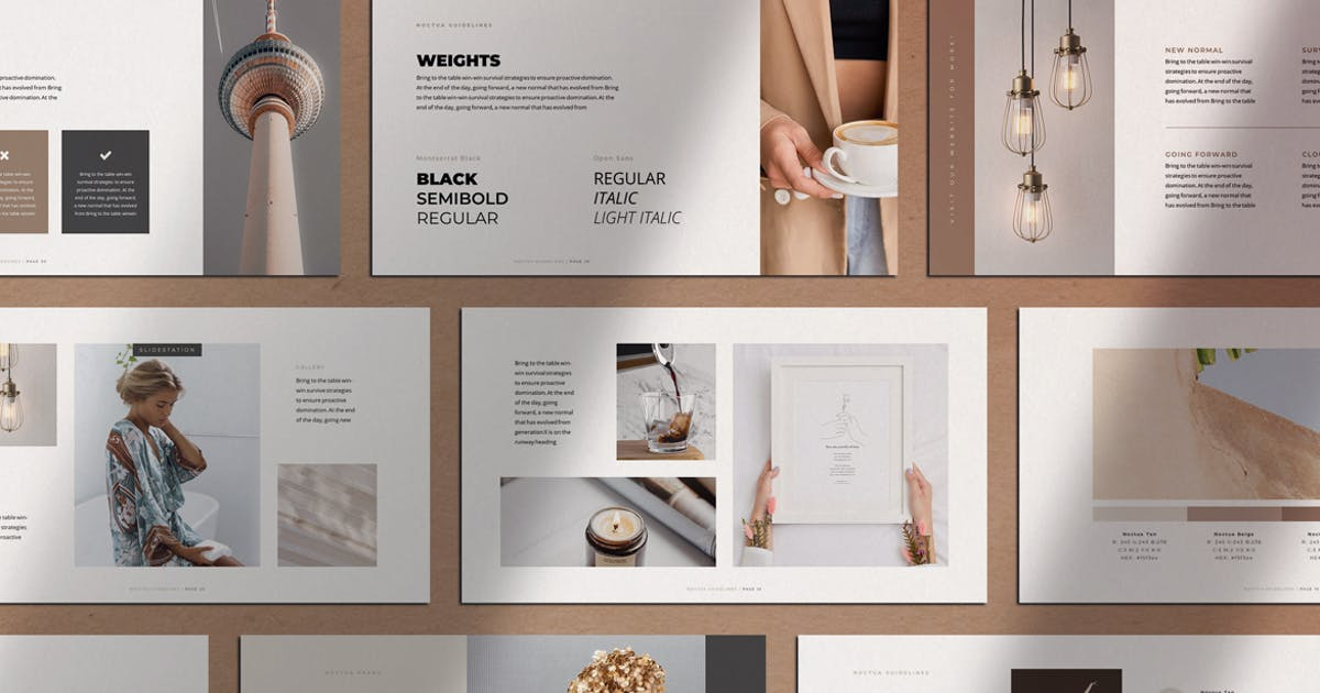 Download Noctua PowerPoint Brand Identity Guidelines by SlideStation