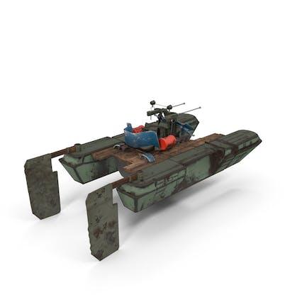 Barco de guerra postapocalíptico