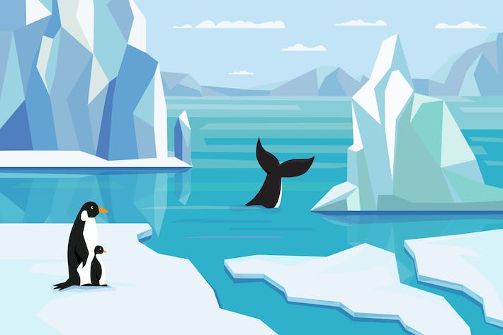 Thumbnail for Antarctic - Illustration Background