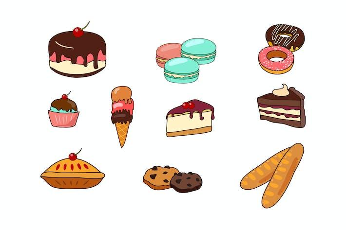 Десерт каракули