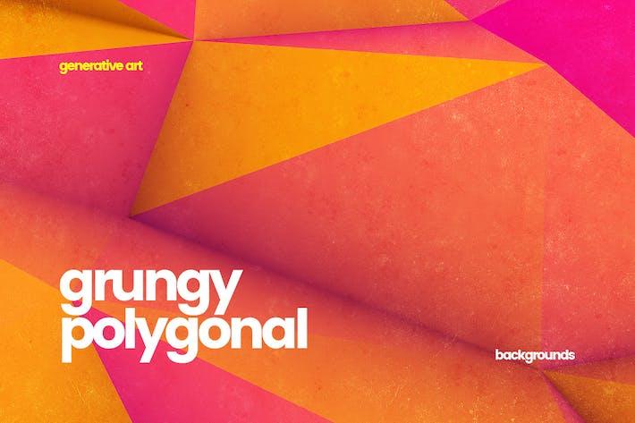 Thumbnail for 10 различных Grungy полигональных Фоны