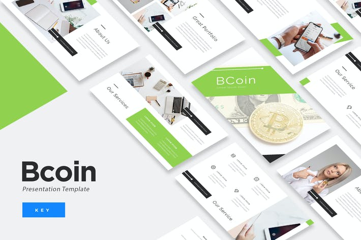 Thumbnail for BCoin - Blockchain Keynote Presentation Template