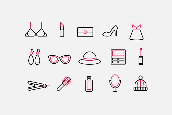 Cover Image For Womens Accessories Icons