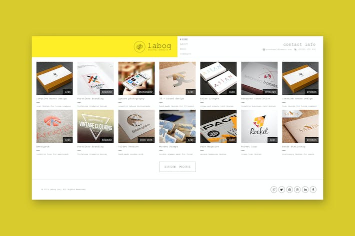 Thumbnail for Laboq - The Ultimate HTML5 Minimal Template
