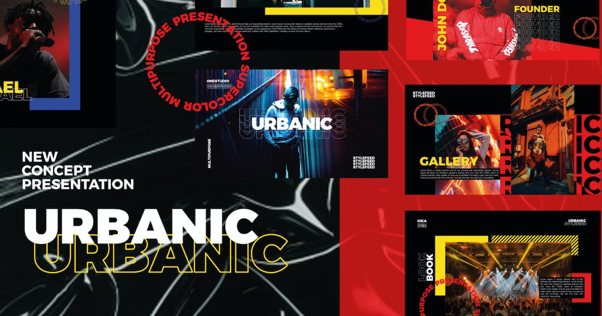 Download Urbanic   Powerpoint Templates by amarlettering