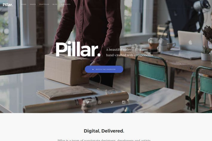 Thumbnail for Pillar - Multipurpose Drupal 8 Theme