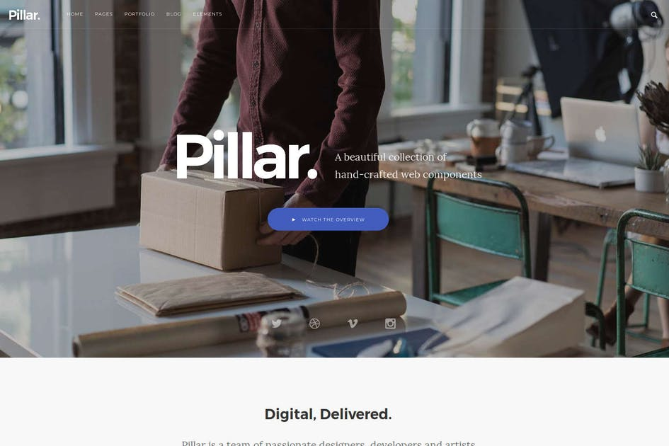 Download Pillar - Multipurpose Drupal 8 Theme by symphonythemes