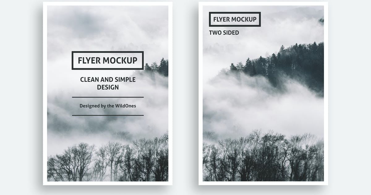 Download Simple Flyer or Invitation Mockups by WildOnes