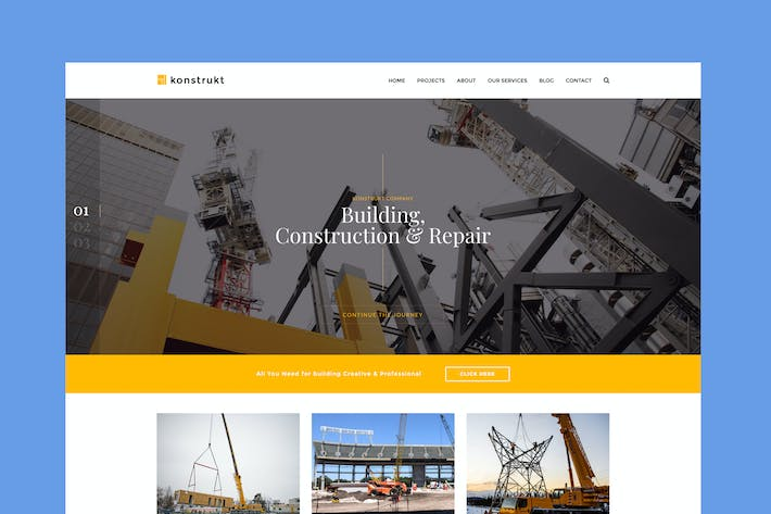 Thumbnail for Konstrukt - Modèle de construction et de construction HTML5