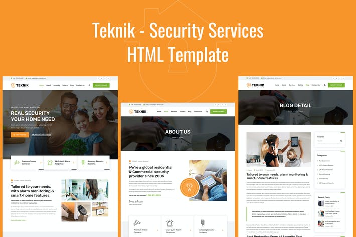 Thumbnail for Teknik - Security Services HTML Template