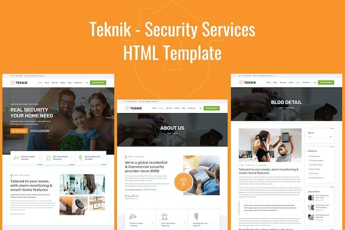 Thumbnail for Teknik - Plantilla HTML de Servicios de Seguridad