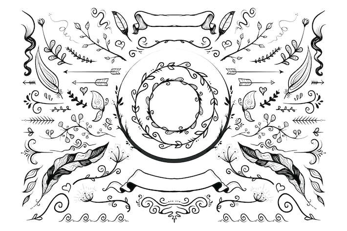 Thumbnail for Hand Drawn Natura Vector Illustration Elements